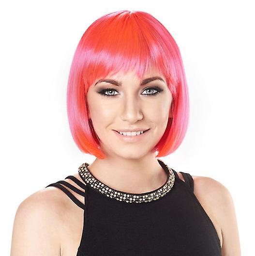Party Wig - Bright Pink - Short Bob Wig - Bright Colours