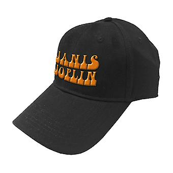 Janis Joplin Baseball Cap Orange Logo new Official Black Strapback