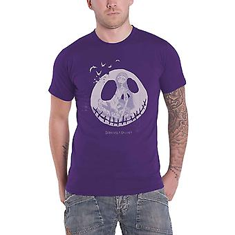 The Nightmare Before Christmas T Shirt Seriously Spooky new Official Mens Purple