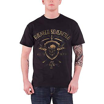Avenged Sevenfold T Shirt Shield And Sickle Hail to the King Official Mens Black