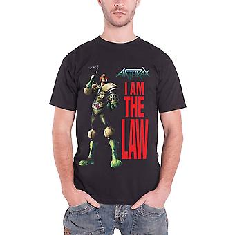 Anthrax T Shirt I Am The Law Pose band logo Official Mens New Black