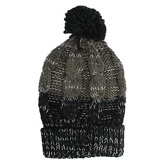 Mens Tom Franks Chunky Cable Knit Bobble Beanie Hat