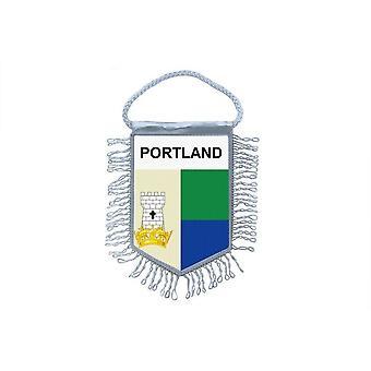 Sinalizar mini bandeira país carro decoração lembrança Blason inglês Portland