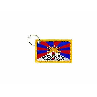 Cle Cles Chiave Brode Patch Ecusson Badge Bandiera Tibet Tibetain