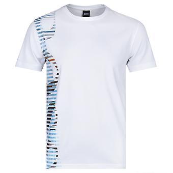 BOSS Tee 9 Side Logo White Crew Neck T-Shirt