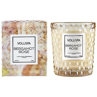 Voluspa Roses Boxed Textured Glass Candle Bergamot Rose 184g