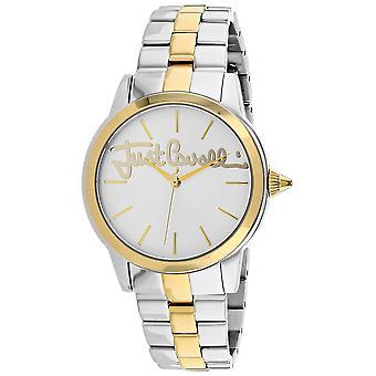 Nur Cavalli Frauen's Logo Silber Zifferblatt Uhr - JC1L006M0125