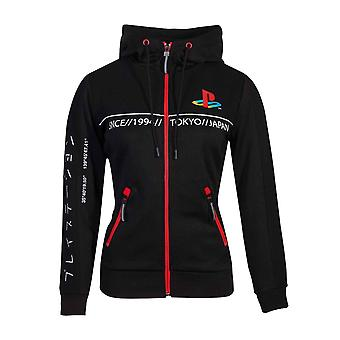 Playstation Hoodie Cut And Sew Tech Classic Logo Official Womens Black Pullover