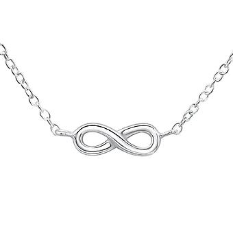 Infinity Inline - 925 Sterling Silver Plain Necklaces - W26274x