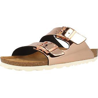 Gele winkel sandalen 78728 kleur naakt