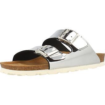 Gele winkel sandalen 78726 kleur zilver