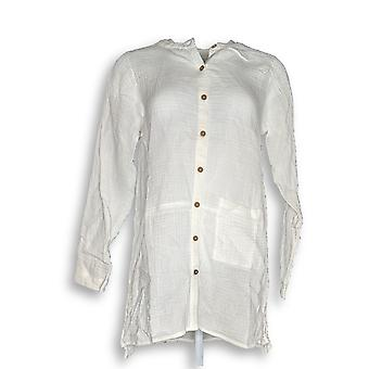 Colección Joan Rivers Classics Women's Top Crinkle Texture White A288760