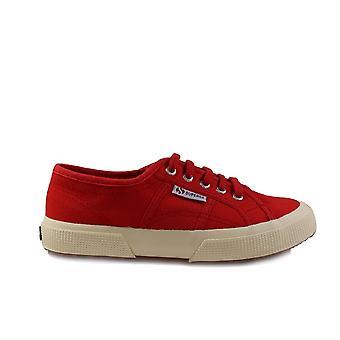 Superga JCOT Classic Canvas Red Unisex Lace Up Shoes
