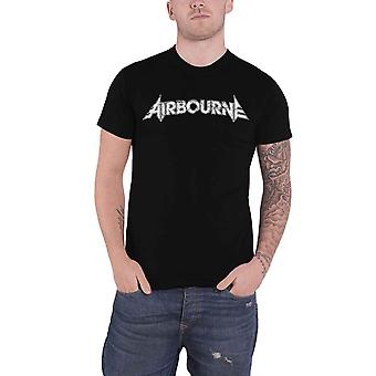 Airbourne T shirt Boneshaker band logo ny officiel Herre sort