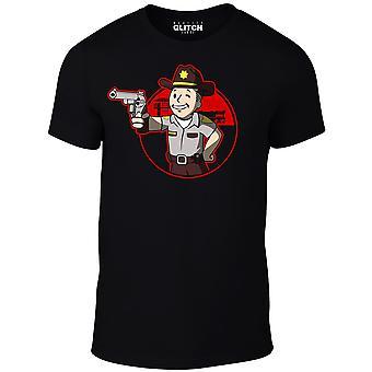 Nuclear Rick men ' s t-shirt-inspirerad av Walking Dead och Fallout