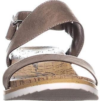 AR35 Dalary Ankle Strap Wedge Sandals, Taupe