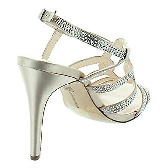 INC International Concepts Womens Bisque Fabric Open Toe Ankle Strap Classic ...