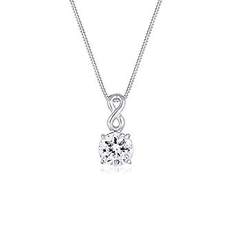 Elli Women's Necklace in Silver 925 with White Swarovski Crystal