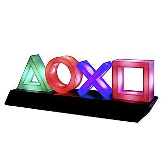 Ikona ikon Sony PlayStation Icon světle černá/zelená/červená/modrá, Tištěná, plastová, s LED funkcí.