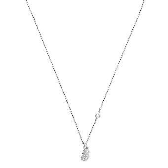 Swarovski halsband och hänge 5512365-M tal Rhodi fjäder Crystal colorless kvinnor