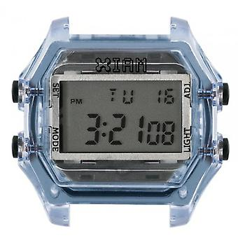 Watch I Am The Watch IAM-116 - Clear Blue Translucent Buttons Black / Horn 20 mm