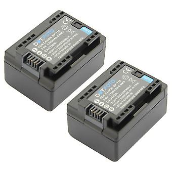 2 x Dot.Foto BP-718 PREMIUM Replacement Rechargeable Camcorder Battery (100% COMPATIBLE) for Canon - 3.6v / 1790mAh [See Description for Compatibility]