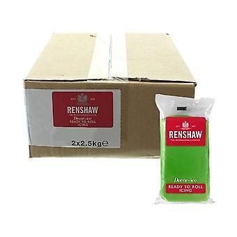 Renshaw Bulk Lincoln Green 5kg Ready To Roll Fondant Icing Sugarpaste