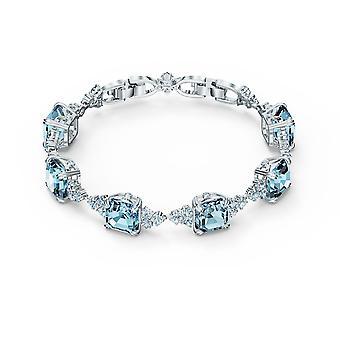 ARMBAND Swarovski 5524142-M tal silver blå pärla kvinnors armband