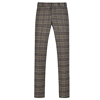 Allthemen Men 's Classic Fit Suit Pants Plaid Printed Casual Pants Allthemen Men 's Classic Fit Suit Pants Plaid Impresso Casual Calças