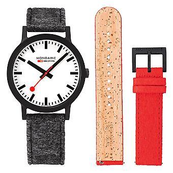 Mondaine Official Swiss Railways Essence Quartz Men's Watch MS1.41110.LH.SET