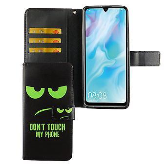 هواوي P30 لايت الطبعة الجديدة حالة حالة الهاتف واقية غطاء الوجه حالة مع مقصورة بطاقة دون & apos;لا تلمس هاتفي