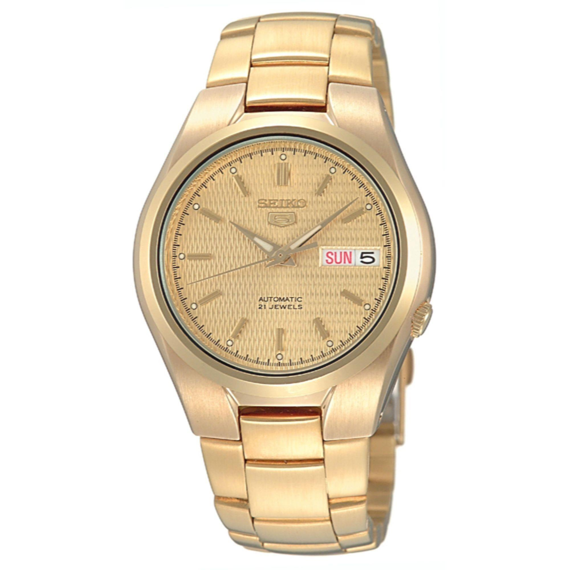 Seiko 5 Automatic Full Gold PVD Stainless Steel Men's Watch SNK610K1