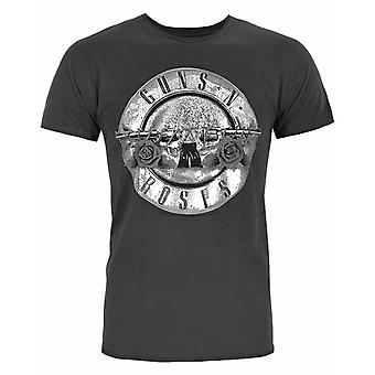 Amplified Guns N Roses Foil Drum Men&s T-Shirt