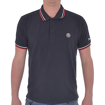 Lambretta Mens Target Tip Casual Logo Collar Buttoned Polo Shirt Tee Top