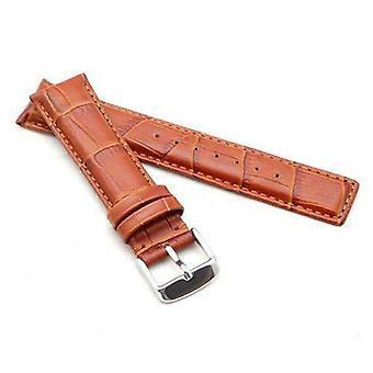 Крокодил зерно телячья кожа ремешок для часов загар для iwc classic 20мм, 21мм, 22мм