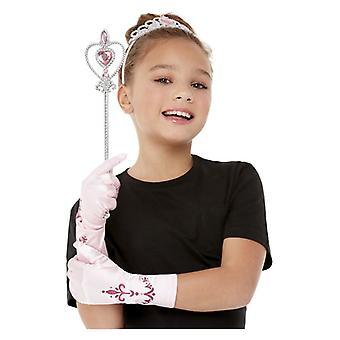 Tytöt vaaleanpunainen prinsessa fancy mekko kit