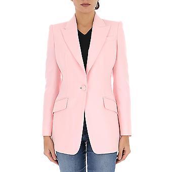 Alexander Mcqueen 610279qjaaa5032 Women's Pink Wool Blazer
