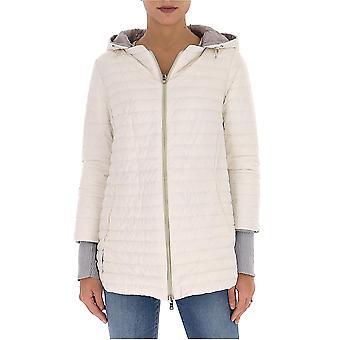 Herno Pi1092d192881094 Women's White Nylon Down Jacket