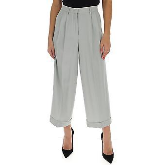 Fabiana Filippi Pad260w892a6118143 Women's Grey Wool Pants