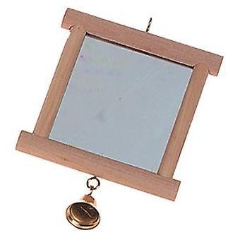 كارلي فلامنغو مرآة خشبية (الطيور، اكسسوارات قفص الطيور، مرايا)