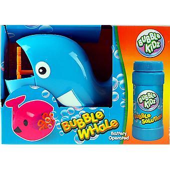 Máquina de bolha de forma de baleia com líquido de bolha