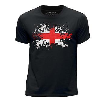 STUFF4 Chłopca wokół szyi T-shirty Shirt/Anglia/Polski flaga ikona/czarny