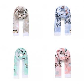 Intrigue Womens/Ladies Large Butterfly Print Scarf
