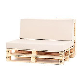 Stone LARGE BACK & SEAT Cushion Set Pallet Seating Garden Furniture Waterproof