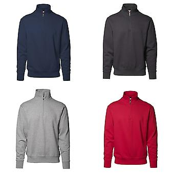 ID Mens High Collar Regular Fitting Half Zip Sweatshirt