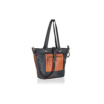 Supple, soft and sturdy genuine leather large zipped handbag by Woodland Leathers