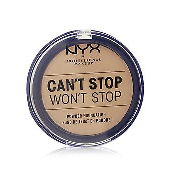 Nyx Can't Stop Won't Stop Powder Foundation - # Soft Beige - 10.7g/0.37oz