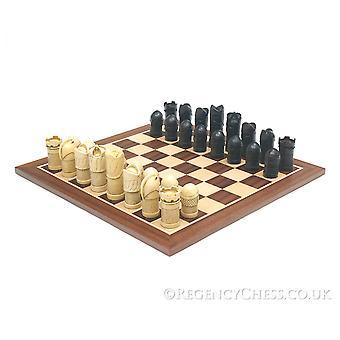 ملثمين مجموعة الشطرنج الماهوجني