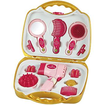 Theo Klein Princess Coralie Large Hairstyling Case with Electric Hairdryer with