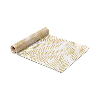 Gold Leaf Organza Table Runner 28cm x 5m Tropical Party Wedding